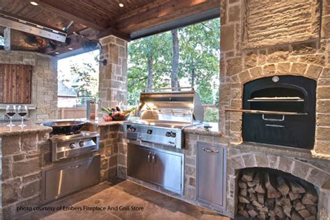 Outdoor Kitchen With Fireplace by Podcast 24 Outdoor Fireplace Installation Ideas
