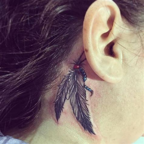 feather behind ear tattoo 25 best ideas about feather ear on