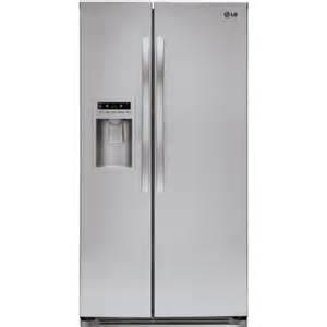 home depot lg refrigerator lg electronics 26 5 cu ft side by side refrigerator in
