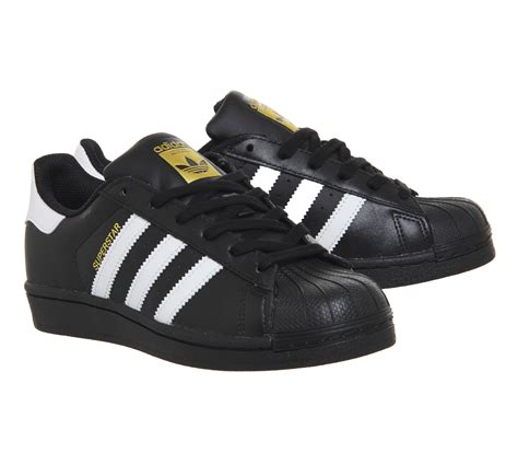 Adidas Superstar Black adidas superstar 1 black white foundation trainers shoes
