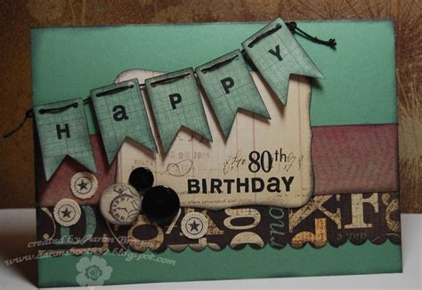 Handmade 80th Birthday Card Ideas - 80th birthday card celebrating the seniors