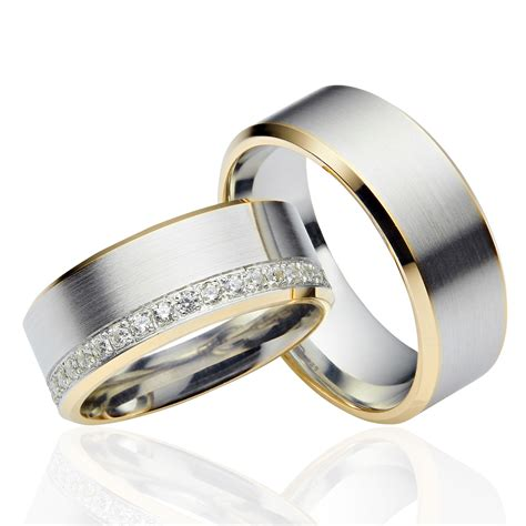 Eheringe In Silber by Jc Trauringe 925 Silber Gold Plattierte Eheringe Lc10 G