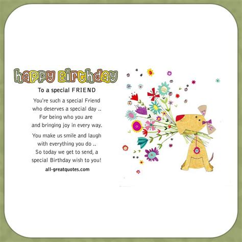 Happy Birthday Wishes To A Special Friend Happy Birthday To A Special Friend Friend Birthday Cards