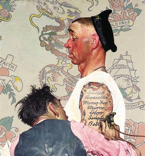 norman rockwell tattoo from labor to refreshment norman rockwell