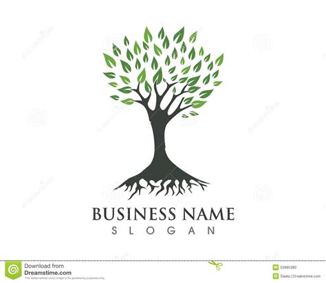 ecology concept eco green tree logo template stock
