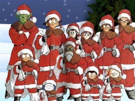 dragon ball z christmas wallpaper dragon ball z images the gang at christmas wallpaper and