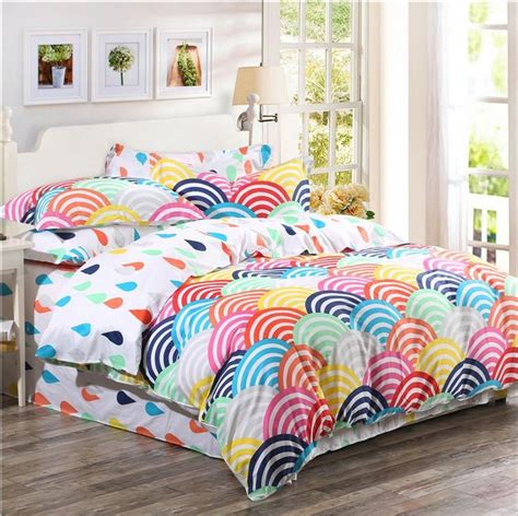 rainbow comforters 2015 organic cotton bedding sets cotton rainbow printed