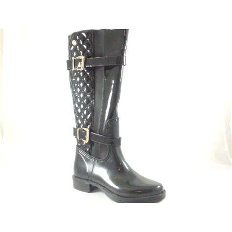 lotus posh wellies sindri black shiny knee high boot