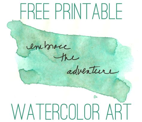free printable wall art watercolor free water color inspirational quotes art