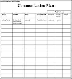 template for communication plan communication plan template word templates