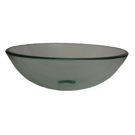 clear glass bathroom sinks shop novatto bonificare clear tempered glass vessel round