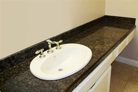Schluter Countertop Edging by Granite Tile Countertop W Schluter Edging In Foster City