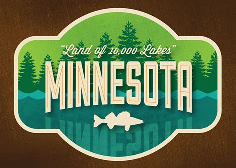 Minnesota The 32nd State by State Logos On Behance