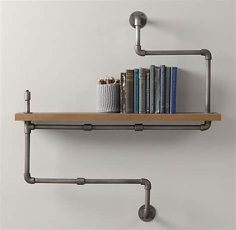 plumbing pipe shelves and hangers diy for