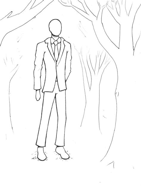 slender man free coloring pages
