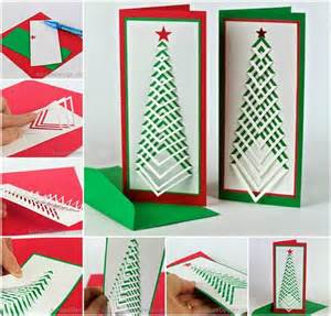 Craft Ideas For The Garden - creative ideas diy chevron design christmas tree card