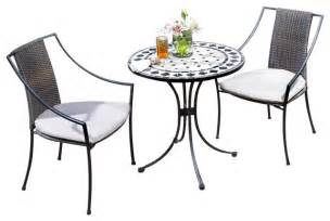 home styles marble bistro table amp 2 chairs in black amp gray transitional patio furniture and