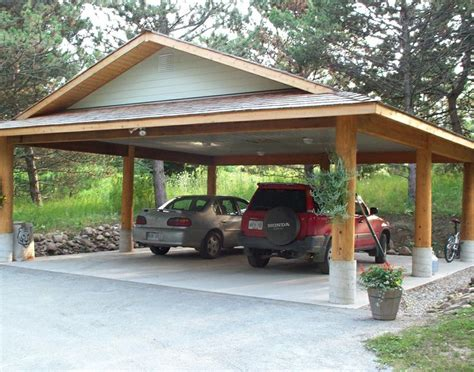 Carport Post i ve always appreciated the simplicity of this simple log post and beam carport i designed many