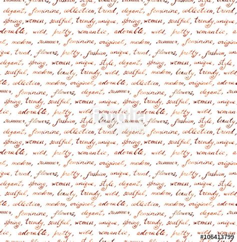 letter pattern words quot vintage hand written letter fashion and beauty seamless
