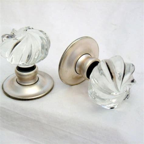 Clear Whirl Door Knobs Mortice Or Rim Door Handles Bronze Glass Door Knobs