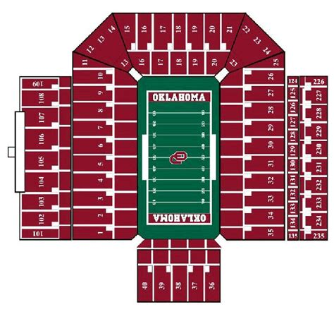 owen field seating chart free ou sooners coloring pages