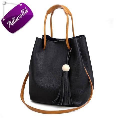 Bag Ransel Fashion D7584 1 2017 s handbags fashion tassel bag tote leather messenger bags for