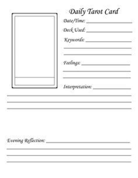 ccf card template blank worksheet daily tarot card search magick