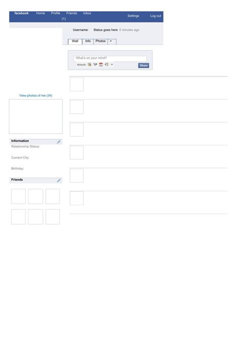facebook layout template html amazing blank facebook templates download free premium