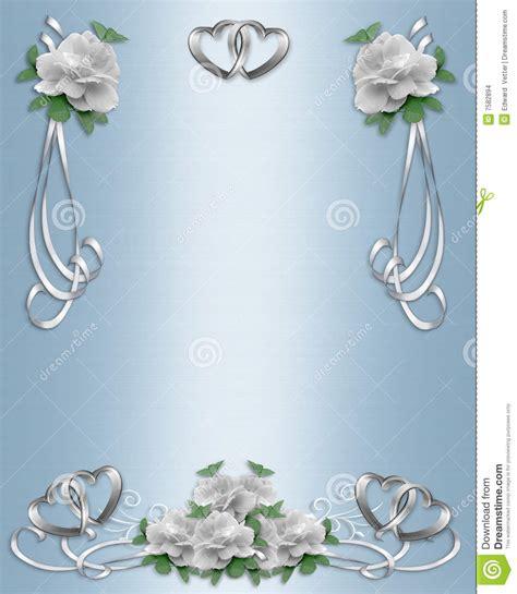wedding invitation border designs aqua blue wedding invitation border white roses stock images image 7582894