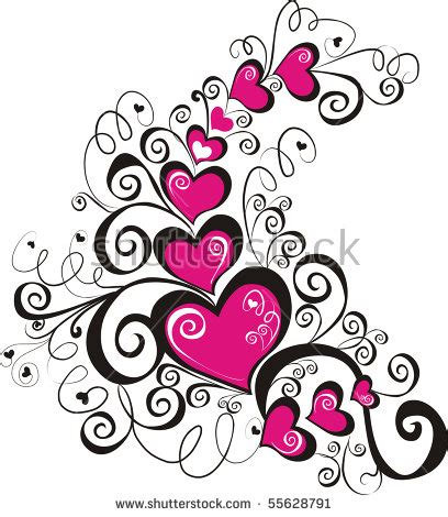 beautiful heart tattoo designs beautiful floral ornament element design stock