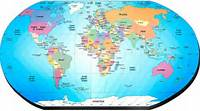 IMAGENES Del Mapa Mundi Con Sus Nombres  Imagui