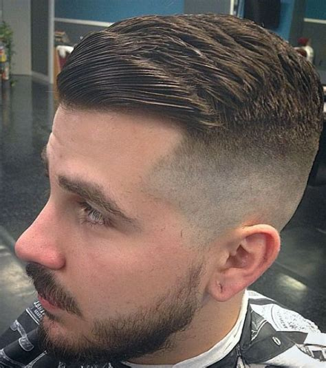 zero one fade hair cut haircut zero fade slicked men s hair style clothing