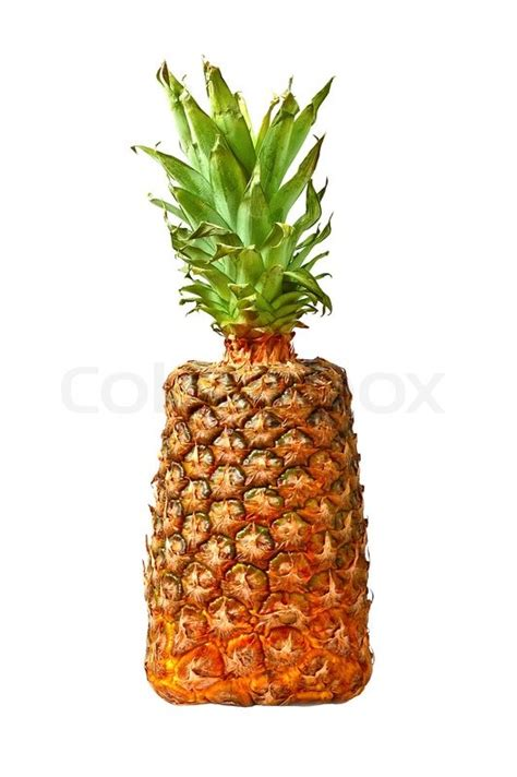 Square Pineapple Dafanya 2 square pineapple isolated on white background stock photo colourbox