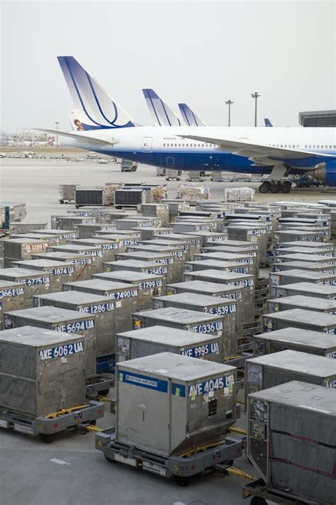 united airlines cargo containers photograph by justin guariglia