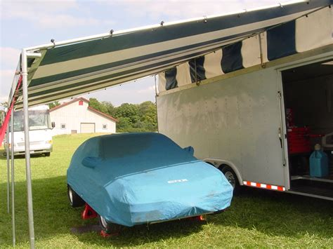 Custom Rv Awnings by Custom Made Motorsports Trailer Canopies For Sale By