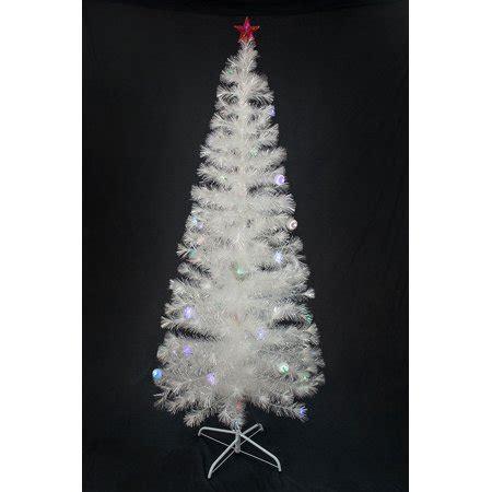 ge white fiberoptic tree w multi colored lights 7 ft pre lit multi color led fiber optic tree bright white