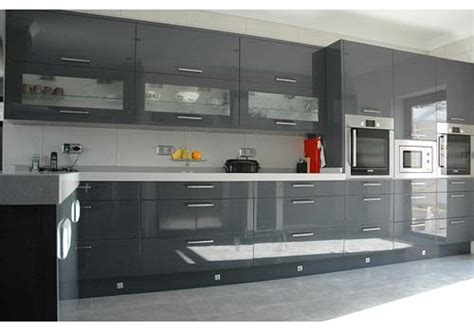 grey gloss kitchen cabinets grey lacquer kitchen cabinets winda 7 furniture