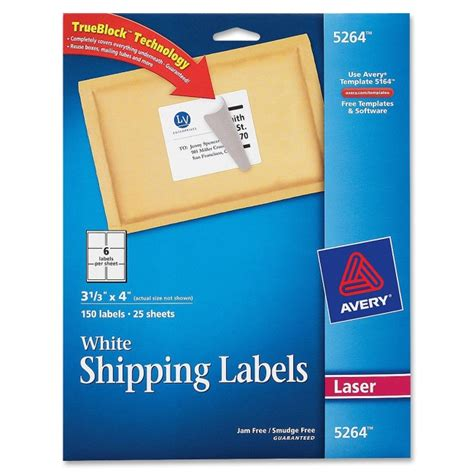Avery Labels 5264 Template by Printer