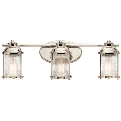 Polished Nickel Bathroom Lighting Kichler Lighting Ashland Bay Polished Nickel Bathroom Light 45772pn Destination Lighting