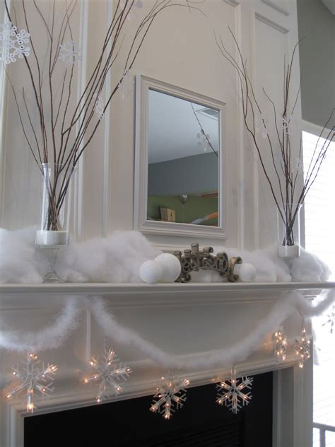 mantel decor my simple winter mantel lighted branches epsom salt and urn that mommy blog my snowy mantel