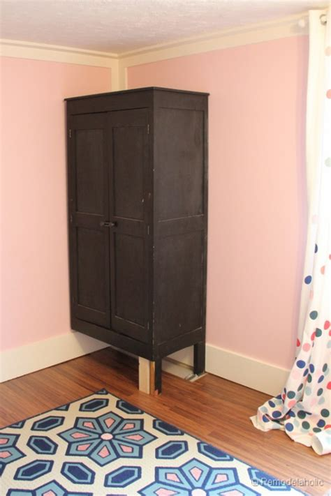 how to build a wardrobe armoire remodelaholic built in closet hack