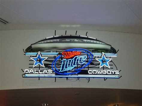 dallas cowboys bud light beer sign miller lite dallas cowboys football