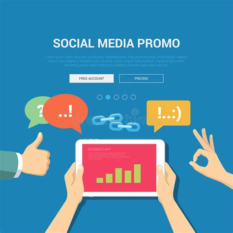 Social Media Promo Banner Template Stock Vector Image 59040620 Free Social Media Graphic Templates
