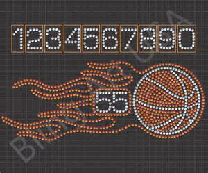 bling templates basketball flames rhinestone designs files downloads