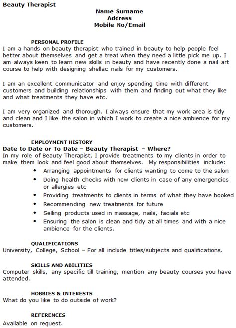 beauty therapist cover letter exle beauty therapist