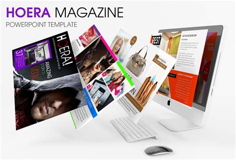 Hoera Magazine Powerpoint Template Presentation Magazine Powerpoint Template
