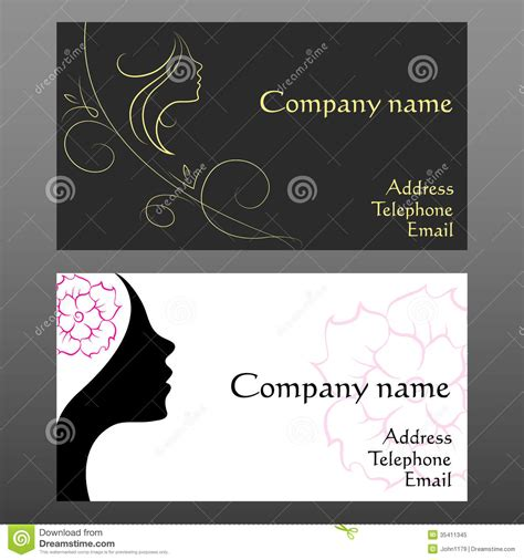 Free Cosmetologist Business Card Templates by Business Card For Hairdressers Stock Vector Image 35411345