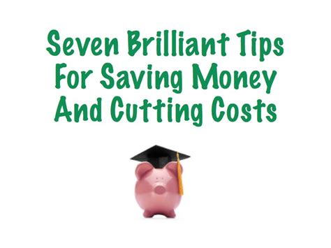 cost saving tips for a seven brilliant tips for saving money and cutting costs