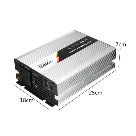 Dijamin Power Inverter 1000w Dc 12v To Ac 220v 1000 Watt 1000w 230v dc 12v to ac sine wave inverter power inverter sale banggood sold out
