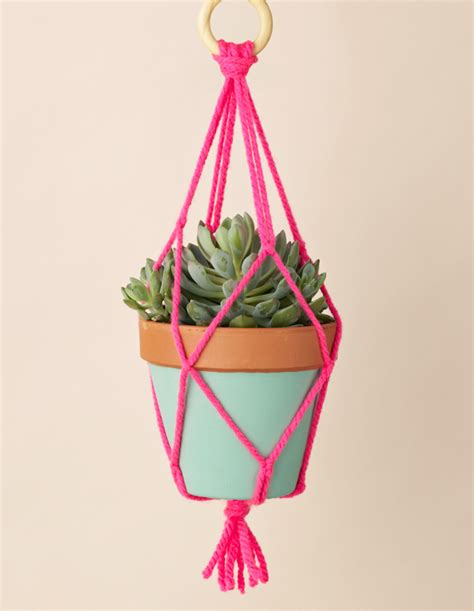 How To Make A Macrame Hanging Planter - 50 ways to subtly incorporate neon into your home